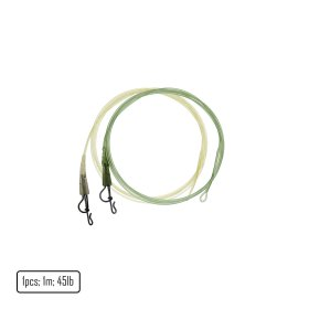 Fluorocarbon Core Leader with Full Metal Lead Clip