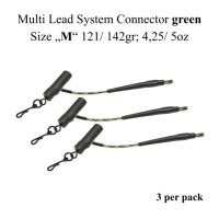 """Connecteur de système multi-plomb vert  Size """"M"""" 121/ 142gr; 4,25/ 5oz"""