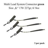 """Connecteur de système multi-plomb vert  Size """"L"""" 170/ 227gr; 6/ 8oz"""