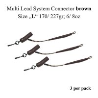 "Multi Lead System Connector braun  Size ""L"" 170/ 227gr; 6/ 8oz"