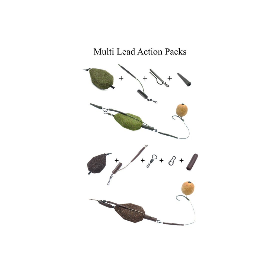 Poseidon Multi Lead Action Pack Outline System Brown 85g// 3oz
