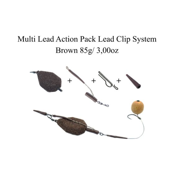 Multi Lead Action Packs Lead Clip System brown 85g/ 3oz